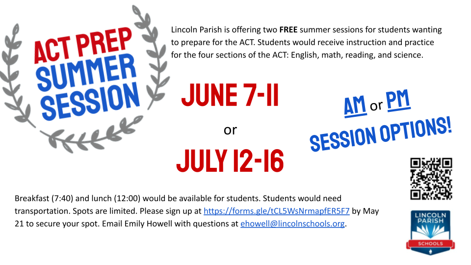 ACT Prep Summer Session